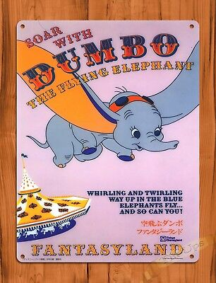 TIN SIGN Disney's Dumbo The Flying Elephant Fantasyland Ride Art Poster