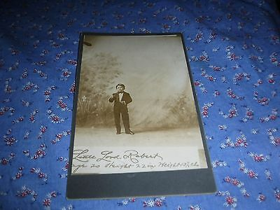 """Cabinet Card Little Lord Robert  Ringling Bros Midget Also Wizard of Oz 22""""  Hig"""