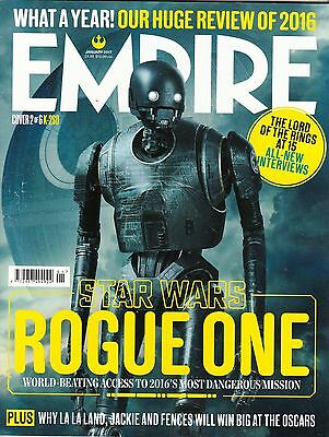 EMPIRE #331 01/2017 Star Wars ROGUE ONE Cover #2 K-2SO; MICHAEL FASSBENDER @NEW@