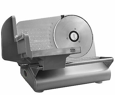 "Knox Stainless Steel Meat Slicer with 7.5"" Smooth Blade"
