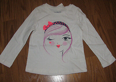 NWT Baby Gap Girl Toddler Long Sleeve Shirt Top Size 3T NEW