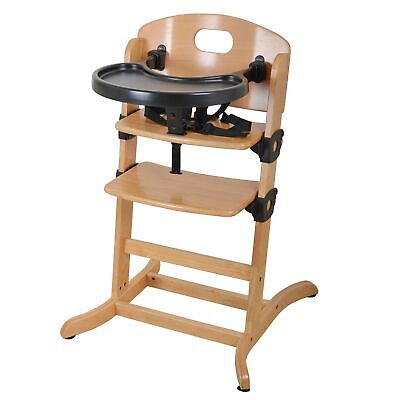 East Coast Nursery Contour Multi-Height Wooden Baby Highchair - Natural