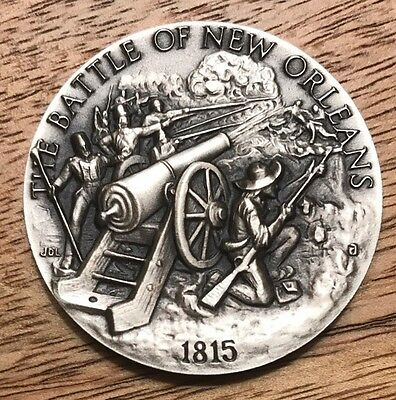 1815. Battle Of New Orleans. 1+ Oz Longines Sterling Silver Medal Coin