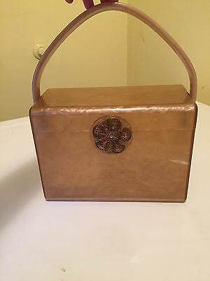 Vintage Wilardy Gold/yellow Lucite Box Bag Purse