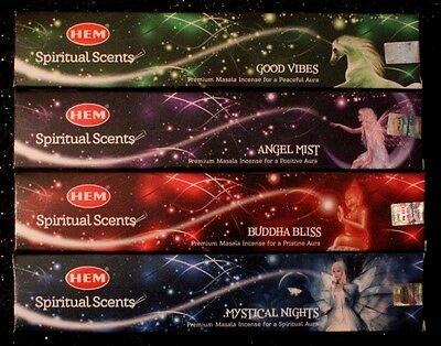 1 2 4x SPIRITUAL SCENTS HEM Incense Mixed Bulk 15g Angel Mystical Insence Sticks