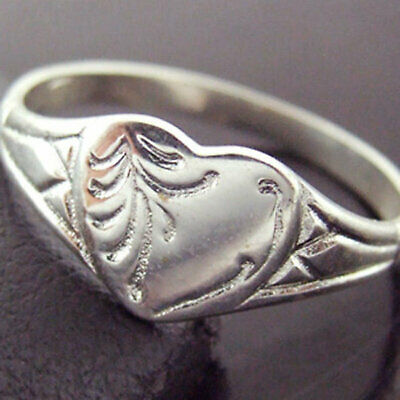 Sterling Silver Ring 925 Ruby Antique Engraved Shield Signet Design SZ M  6