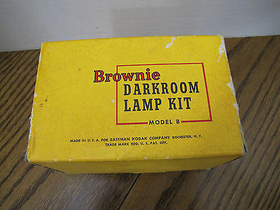 Vintage Model B Brownie Darkroom Lamp Kit With 3 Cups Yellow Green Red