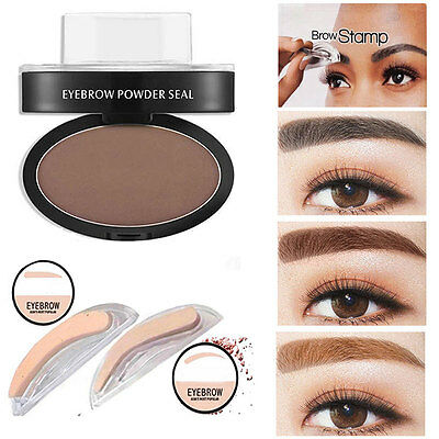 Professional Eyebrow Powder Shadow Stamp Palette Natural Brow Definition Makeup