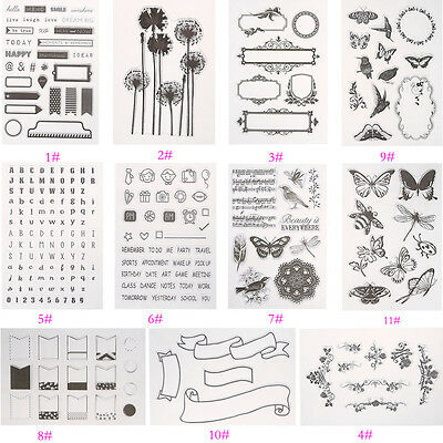 Silicone Stamp Seal Clear Scrapbooking Diary Making Decor Card DIY 10 Types