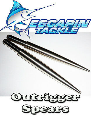Outrigger Spears Set of 2. Alloy - lightweight alloy