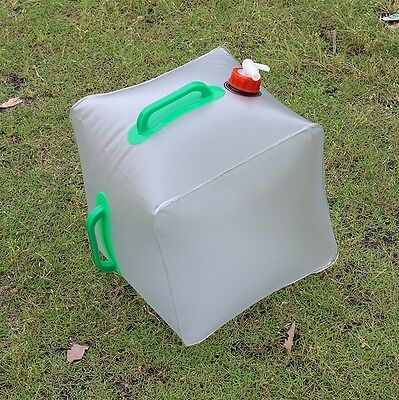 Foldable Outdoor Camping Hiking Survival 20L Water Bag Storage Carrier Container