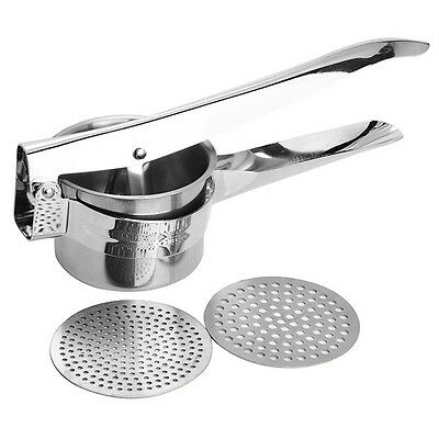 Good Grips Durable Stainless Steel Potato Ricer Puree Press Masher With 2 Blade