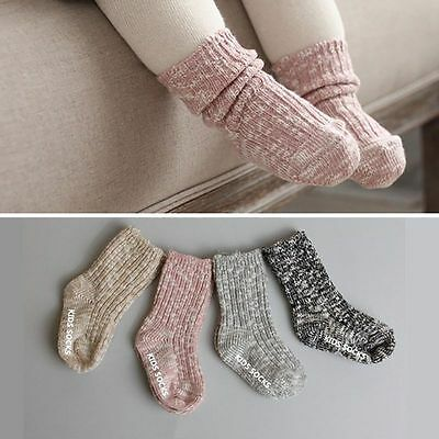 Toddler Infant Kids Baby Boys Girls Soft Anti-slip Socks Knitting Socks 0-4Y