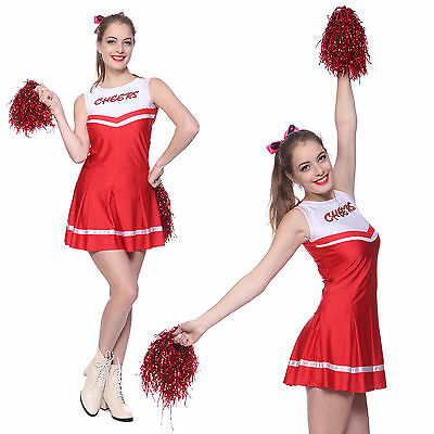 Robe Débardeur Costume Deguisement Cheerleader Pompom Girl Supporteuse Uniforme
