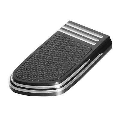 Black Brake Pedal Pad For Harley Dyna Wide Glide Softail Breakout CVO Breakout