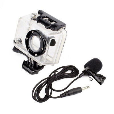 3.5mm External Microphone Mic & Side Open Skeleton Housing Case For GoPro Hero 2