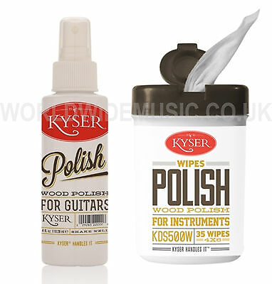 KYSER KDS500/W Guitar Wood Polish with a choice of Wipes or 4 oz Spray Bottle