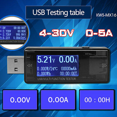 USB Multi Function Tester Voltmeter Ammeter Current Voltage Capacity Monitor GT