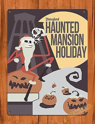 TIN SIGN Disney's Haunted Mansion Holiday Jack Skellington Ride Poster
