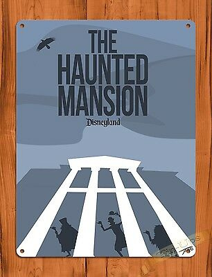 TIN SIGN Disney's Haunted Mansion Attraction Ride Poster