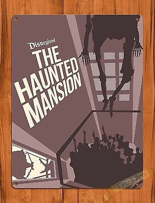 TIN SIGN Disney's Haunted Mansion Hanging Attraction Ride Poster