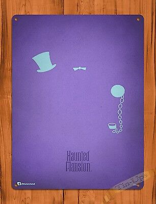 TIN SIGN Disney's Haunted Mansion Hitchhiking Ghosts Ride Art Poster