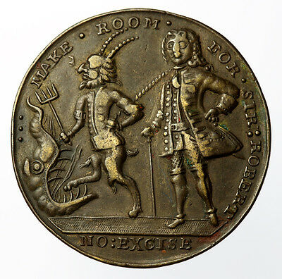 Duke of Argyle & Robert Walpole Medal in Bronze 1741 37mm - Eimer 561