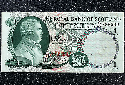 Royal Bank of Scotland £1 Note 1st September 1967 - P327