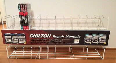 Chilton Auto Manuals Shelf Wire Retail Store Countertop Counter Display Rack