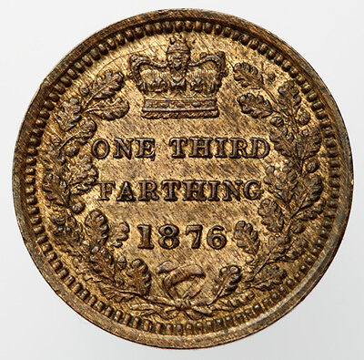 Victoria One Third Farthing 1876 - S3960 - EF + Lustre