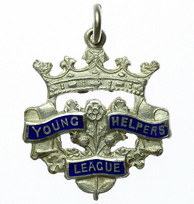 Young Helpers League Silver Fob / Medallion 1929 (130)