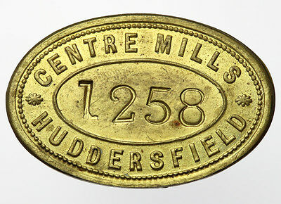 Centre Mills Huddersfield Brass Pay Check / Tally No. 1258
