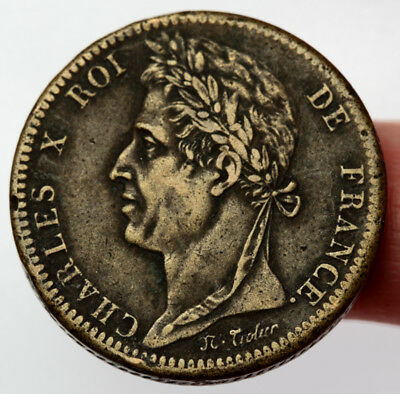 1828 French Colonies 10 Centimes ~ KM#11.1 Colonies Francaises