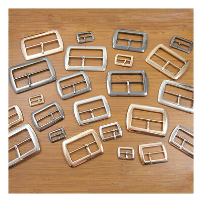 Half Belt Buckles *3 Colours & 8 Sizes* Rectangle Gun Metal,silver & Gold