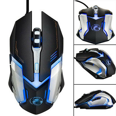 3200 DPI LED Optical 6D USB Wired Gaming Game Mouse Mice For PC Laptop Computer