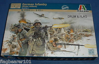 Italeri 6151. Ww2 German Infantry Winter Uniform. 1:72 Scale Plastic Figures