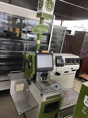 Commercial Lighted Self-Serve Pos Kiosk Grocery Supermarket Store Merchandiser