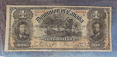 1898 Canadian  $1 Dominion Of Canada Currency Vf Condition #462341