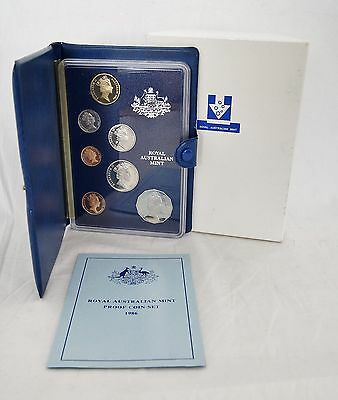 1986 Royal Australian Mint Coin Proof Set Year of Peace with Box & COA (LV#812)