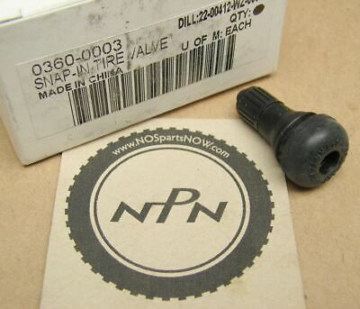 New NOS Snap In Tubeless Motorcycle Tire Valve Stem 0360-0003