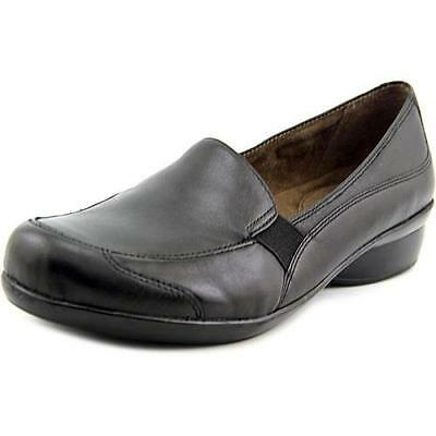 e8953699480 Women s NATURAL SOUL CARRYON Black Leather Slip On Loafers Casual Shoes