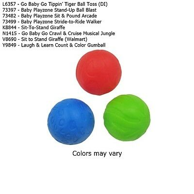 New Fisher Price Go Baby Go Baby L&L Sit-To-Stand 3 colored Replacement Balls