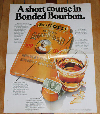 Vintage Old Grand Dad - A Short Course In Bonded Bourbon - Poster