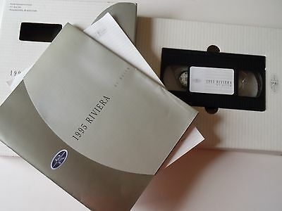 1995 Buick RIVIERA Promotional VHS tape Video & Sales Brochure Advertising Book