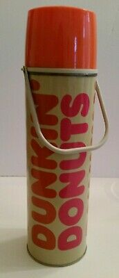 "Dunkin Donuts Vintage King Seeley Coffee Thermos Bottle 13"" Tall Missing Cup"