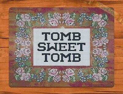 TIN SIGN Disney's Haunted Mansion Tomb Sweet Tomb Ride Art Poster