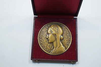 French Republic Ministry Foreign Affairs Bronze Medal (Morlon) 72Mm (Rare)  A705