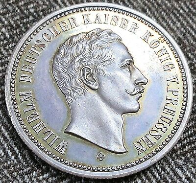 1888 Germany Prussia Wilhelm II Uncirculated Proof Silver Medal Russia