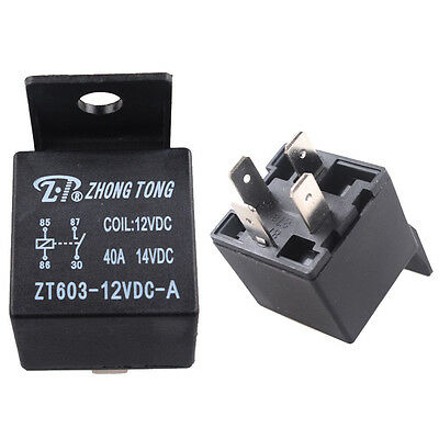 DC Black Car Vehicle Truck Motor 12V 12 Volt 40A AMP SPST Relay 4Pin 4P Sales