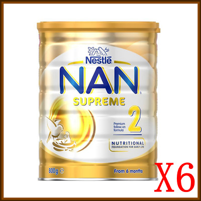 6x Nestlé NAN Optipro HA Gold 2 Premium Follow On Formula 800g